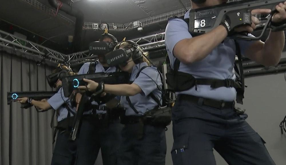 Schweizer-Polizei-VR-Einsatztraining