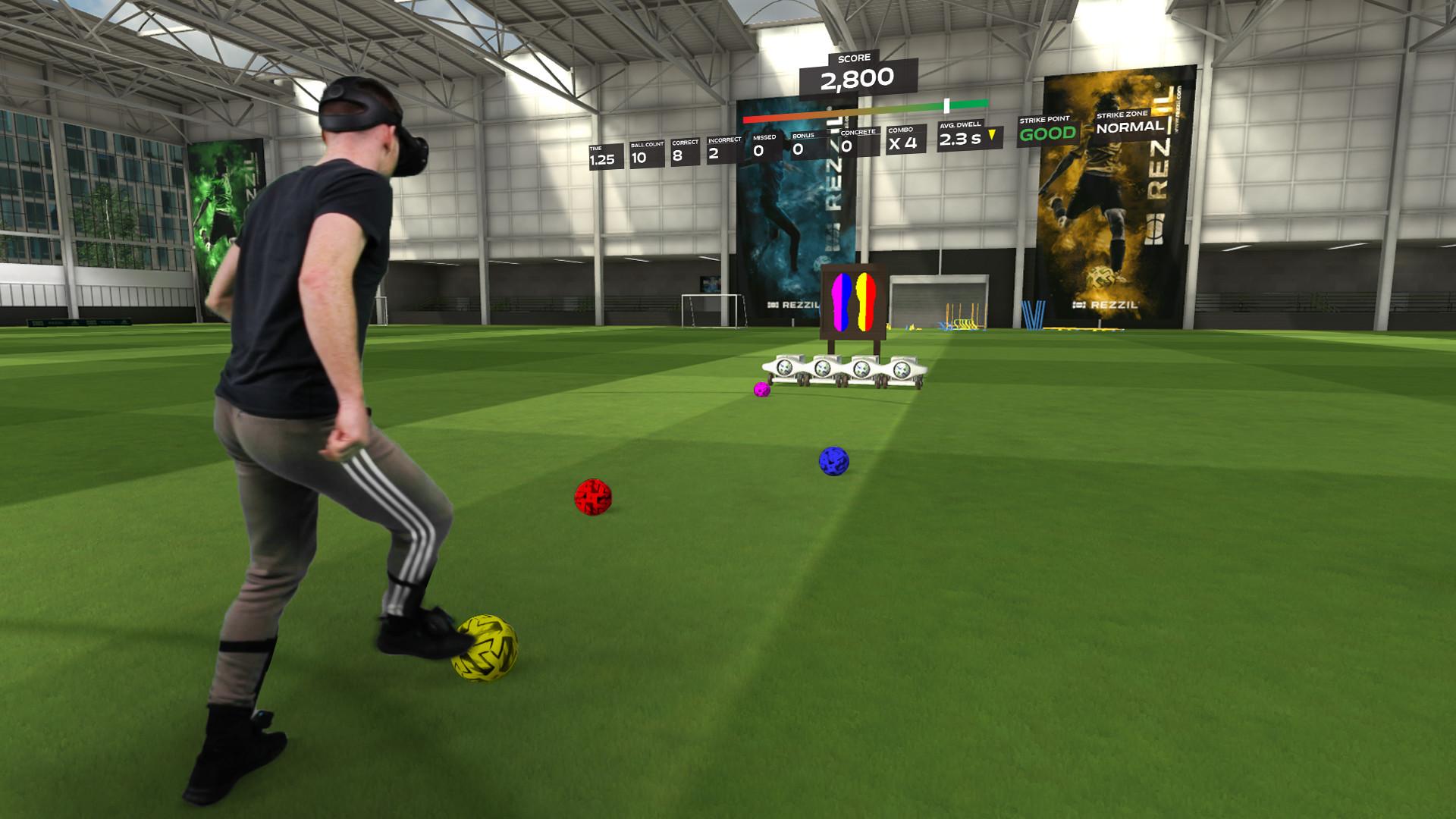 Rezzil Player 21: Torschüsse in VR trainieren