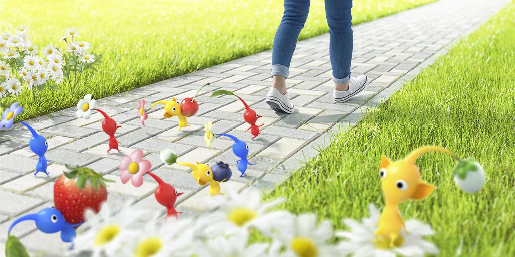 Pikmin AR-App soll zum Spazieren motivieren